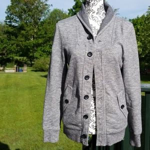 H&M Thick Gray Sweatshirt Jacket